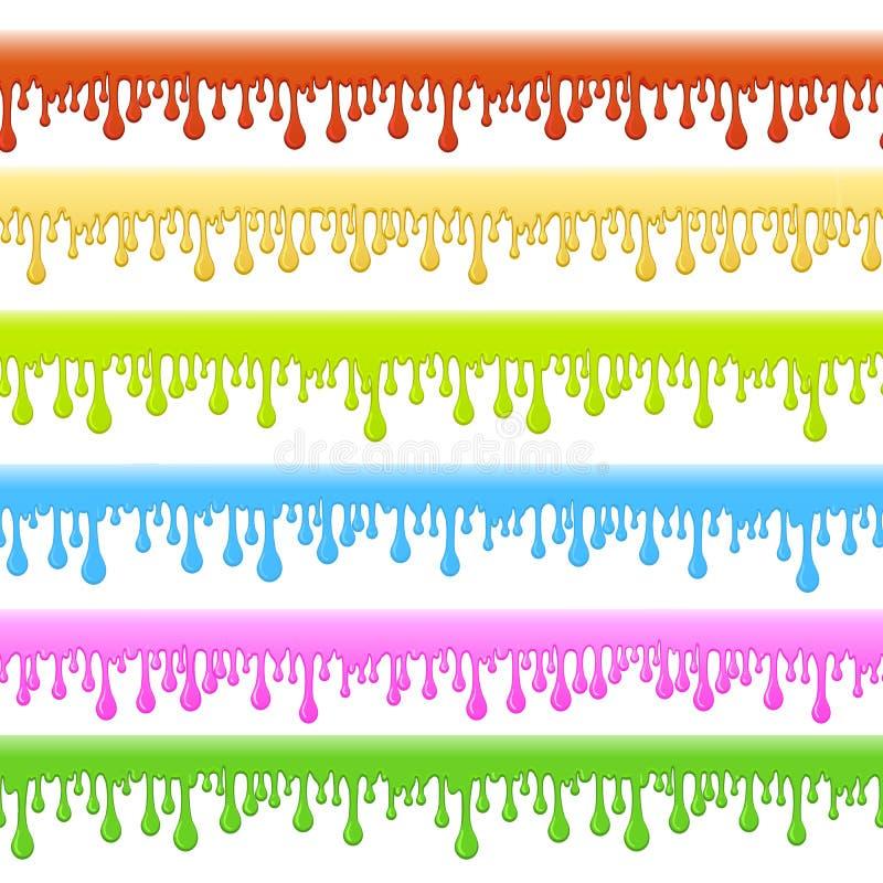 Beiras sem emenda coloridas do limo ilustração stock