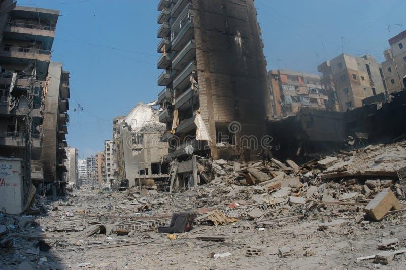 Beiroet onder het Bombarderen stock foto