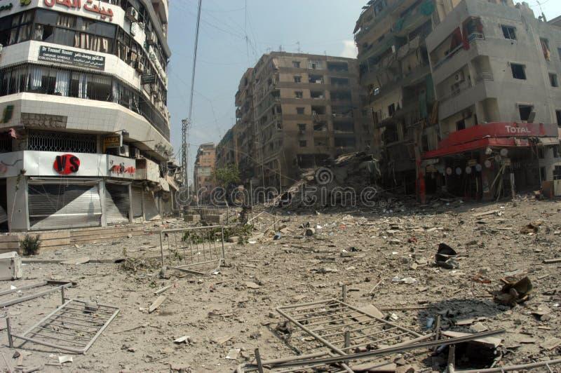 Beiroet onder het Bombarderen royalty-vrije stock afbeelding