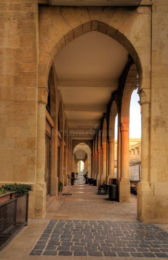 Beiroet van de binnenstad, Libanon. stedelijke architectuur royalty-vrije stock afbeeldingen