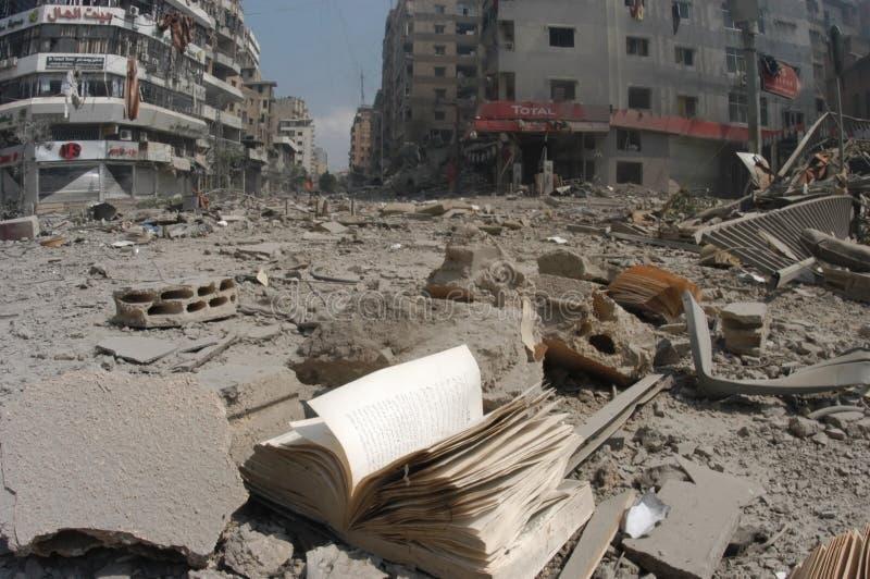 Beirut bombardierte stockfotografie