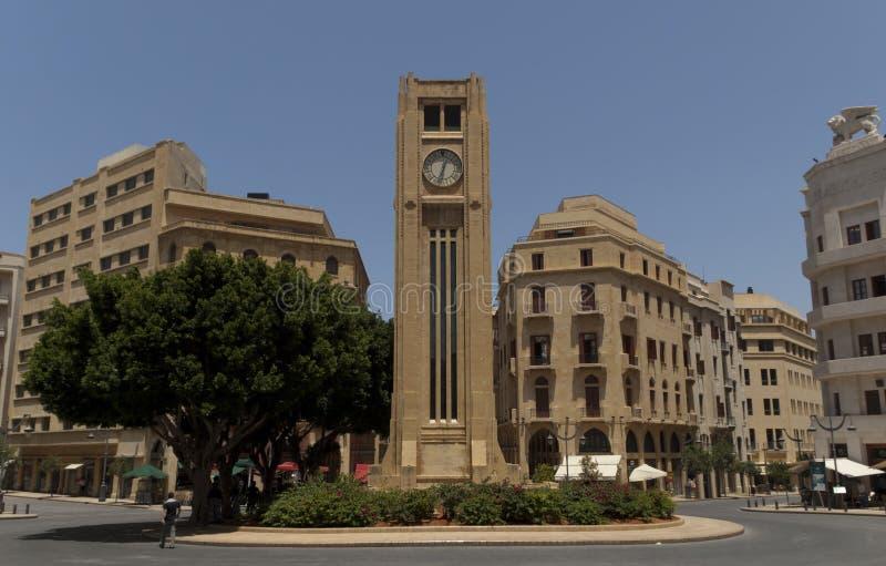 Beirut der Libanon - im Stadtzentrum gelegener Platz d etoile lizenzfreies stockbild