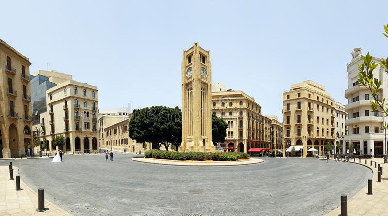 Beirut downtown stock image