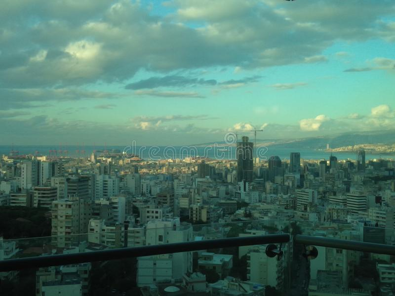 Beirut esta mañana fotografía de archivo libre de regalías