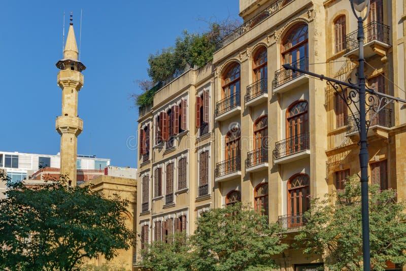 BEIRUT, LÍBANO - Uma rua do distrito central de Beirute ou do centro de Ville Beirute Líbano 2 de fevereiro de 2018 foto de stock
