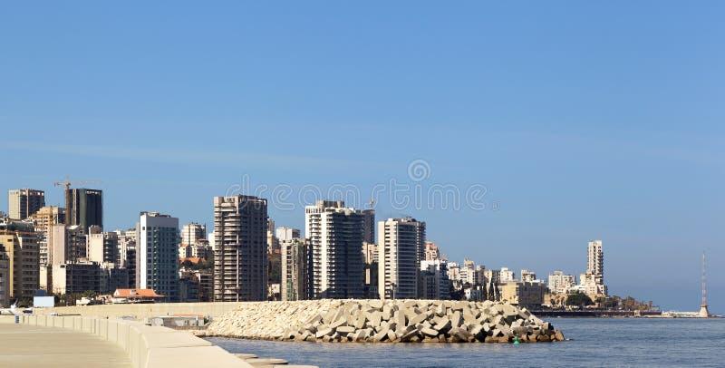 beirut lebanon horisont arkivfoto