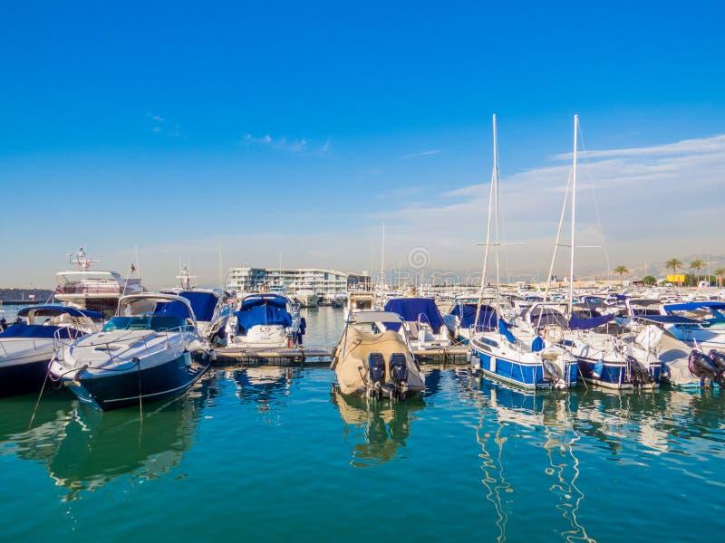 Zaitunay Bay in Beirut, Lebanon royalty free stock photos