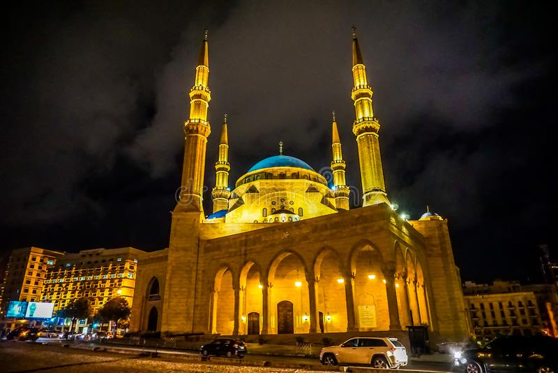 Beirut Mohammad Al Amin Mosque 02 lizenzfreie stockfotografie