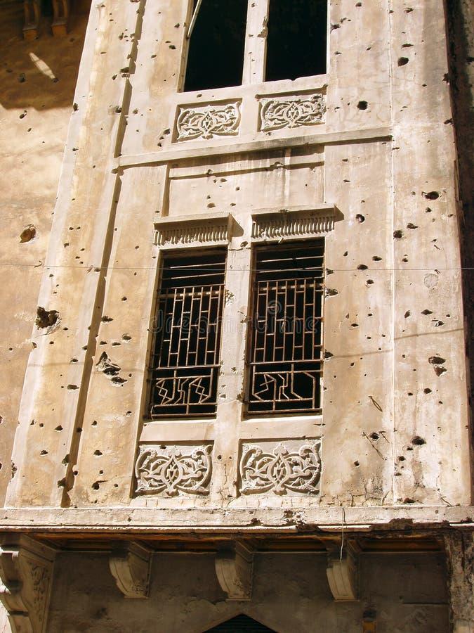 Beirut - rovine di guerra fotografia stock