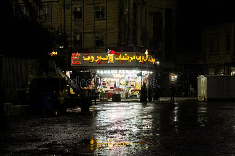 Beirut, una notte piovosa fotografia stock libera da diritti