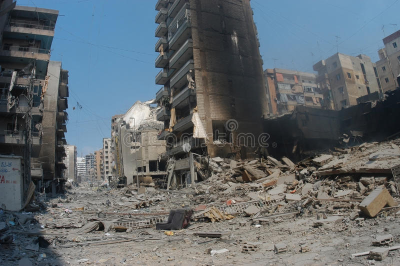 Beirut under Bombing stock photo