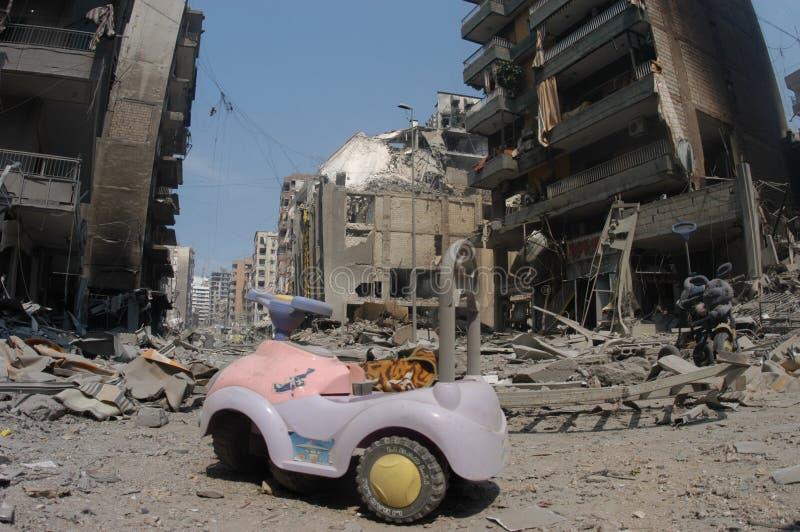 Beirute sob o bombardeio imagem de stock royalty free