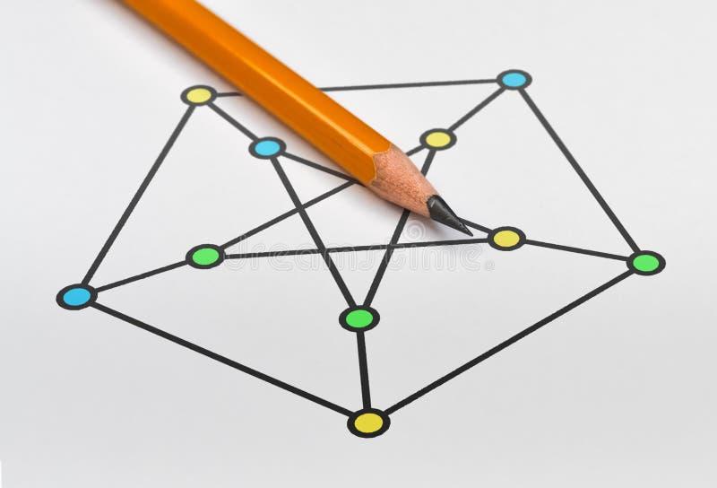 Beispiel des Diagramms stockbilder