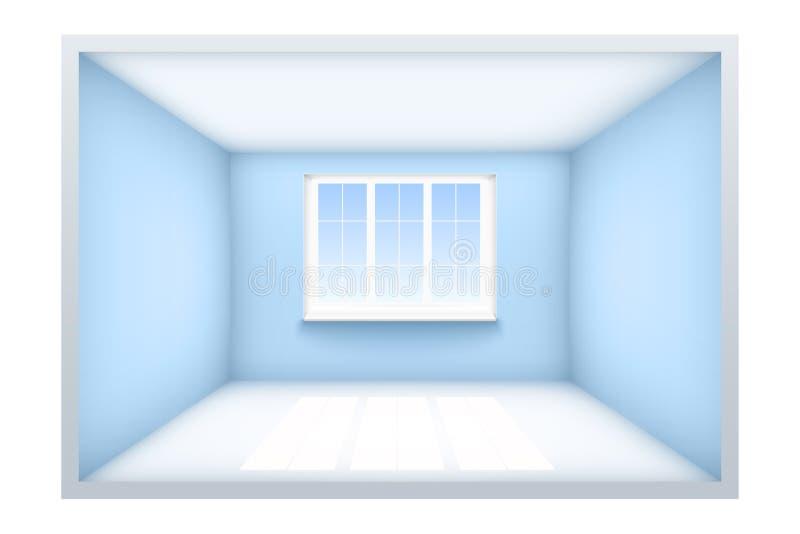 Beispiel des leeren Raumes mit Fenster stock abbildung