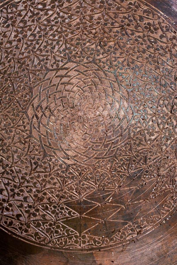 Beispiel von Osmanekunstmustern auf Metallen stockbild