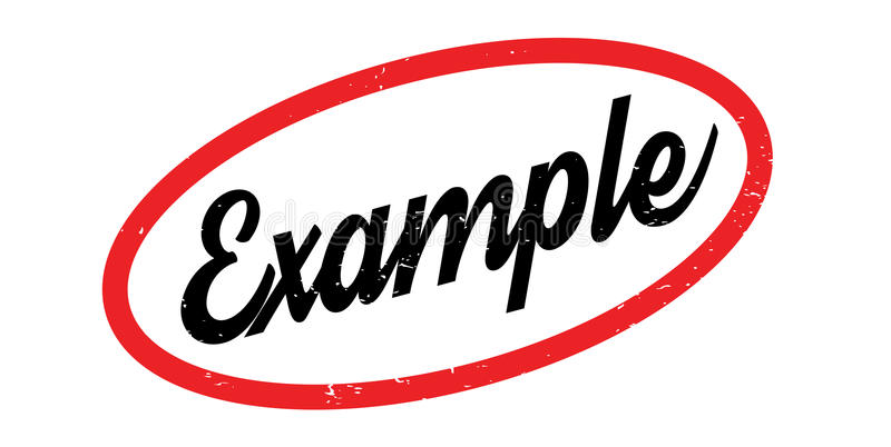 Beispielstempel lizenzfreie abbildung