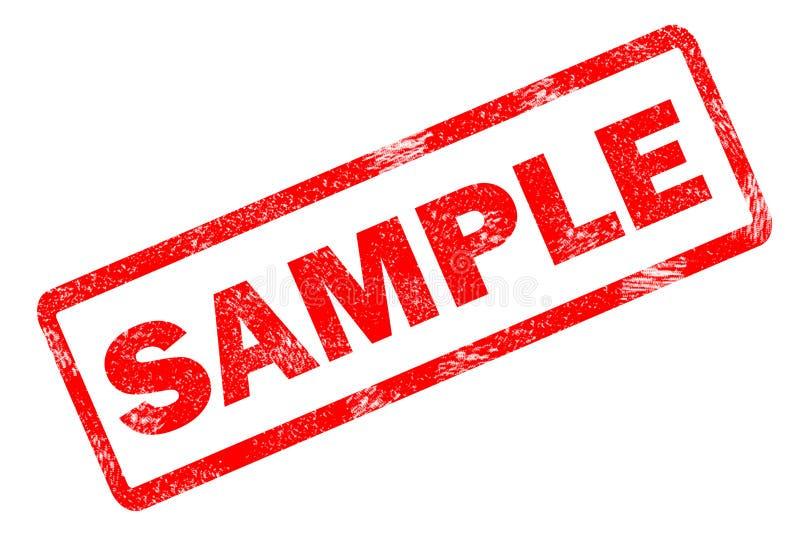 Beispielstempel auf weißem Hintergrund stock abbildung