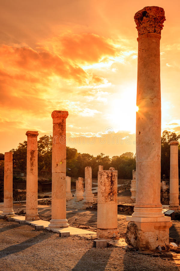 Download Beit She'an stock photo. Image of stone, roman, ancient - 37987782