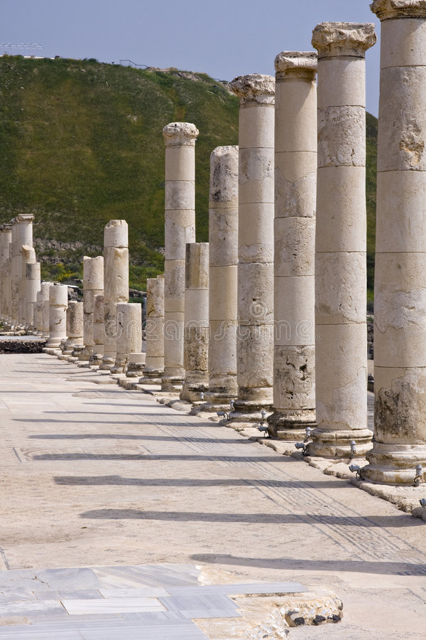 Download Beit She'an stock image. Image of columns, archaeological - 8824863