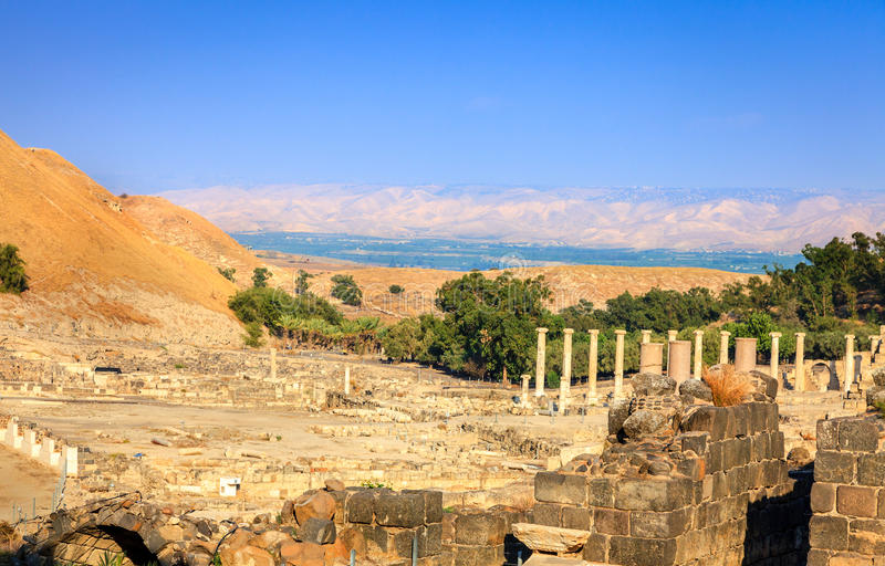 Download Beit She'an stock image. Image of columns, byzantine - 36269239
