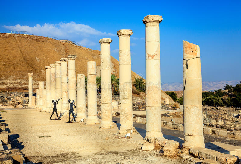 Download Beit She'an stock image. Image of figures, past, stone - 37514287