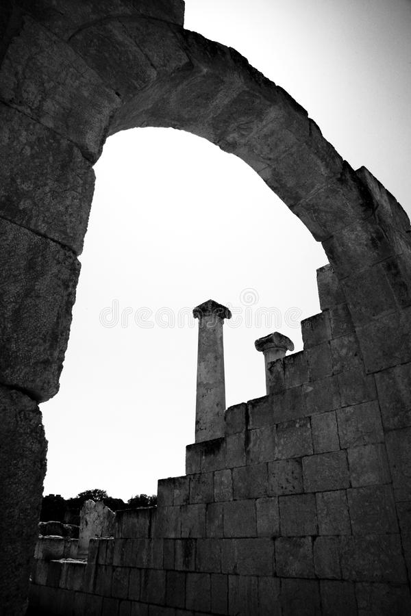 Beit She'an Arch stock photos