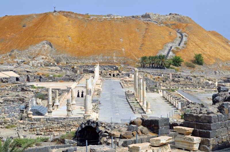 Beit She'an park narodowy fotografia royalty free