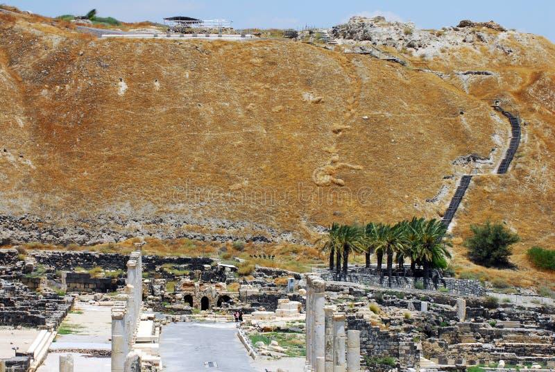 Beit Shean - l'Israël antiques image libre de droits