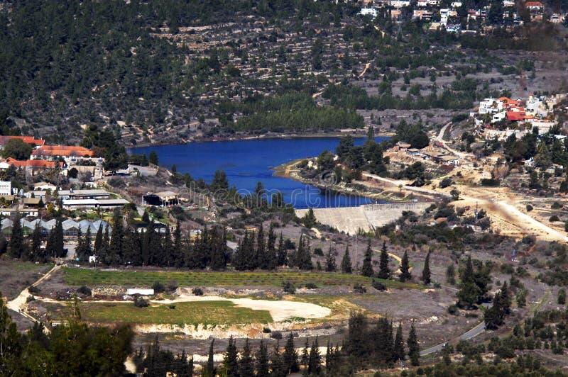 Beit Hebrew: Beit Zayit Reservoir In Jerusalem, Israel Stock Photo