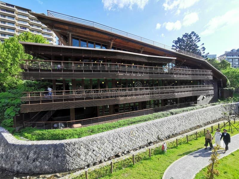 Beitou offentligt bibliotek, Taipei arkivbilder