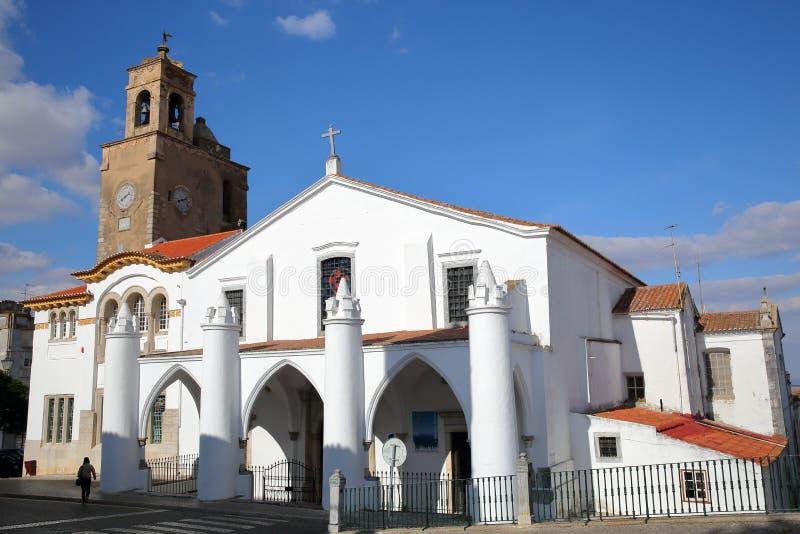 BEJA, PORTUGAL - 16 DE OUTUBRO DE 2016: A igreja de Santa Maria fotografia de stock royalty free