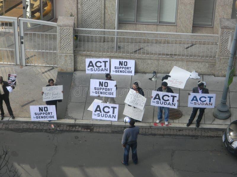Beja Protest-Qatar-Botschaft Gleichstrom lizenzfreie stockfotos