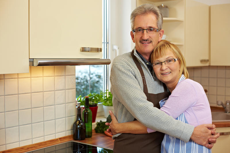 Bejaard echtpaar royalty-vrije stock foto