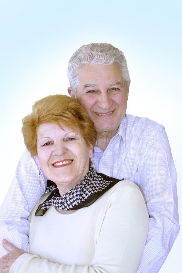 Bejaard paar royalty-vrije stock afbeelding