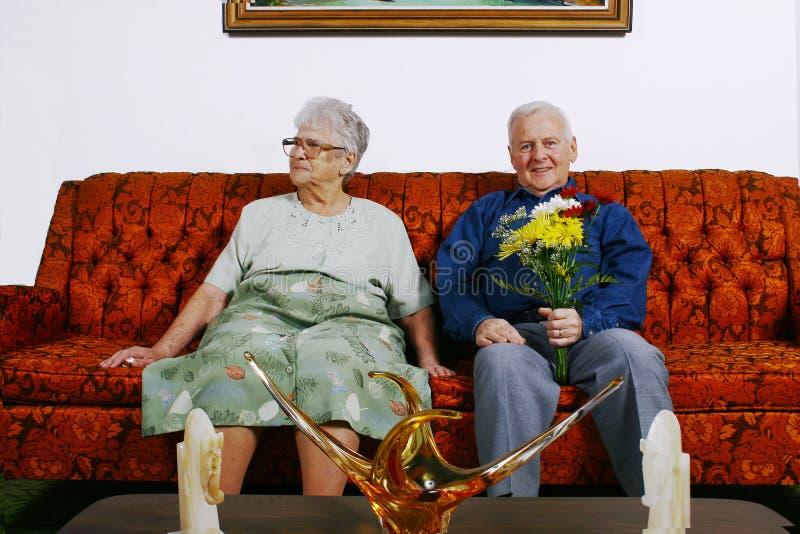 Bejaard paar stock fotografie