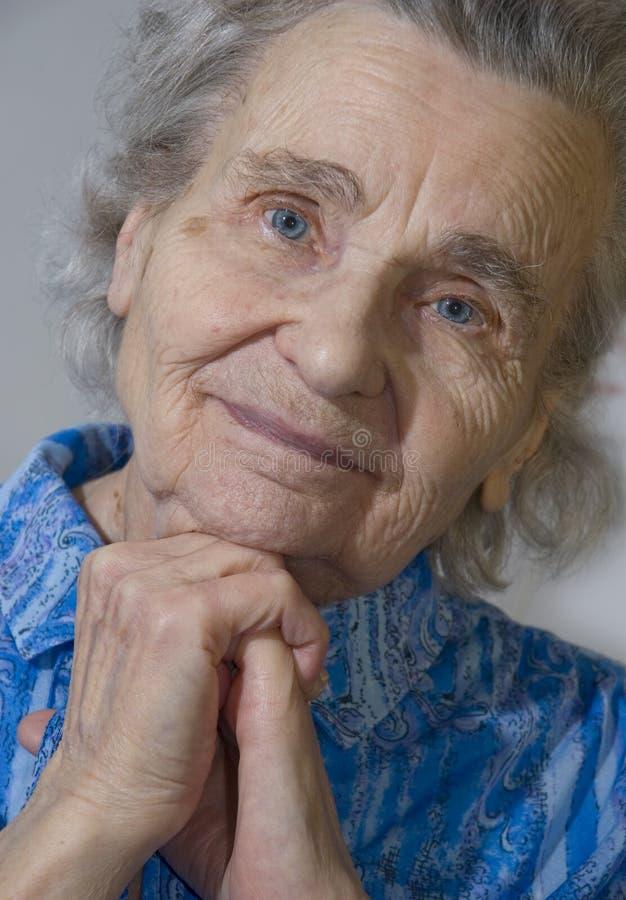 Bejaarde stock afbeelding