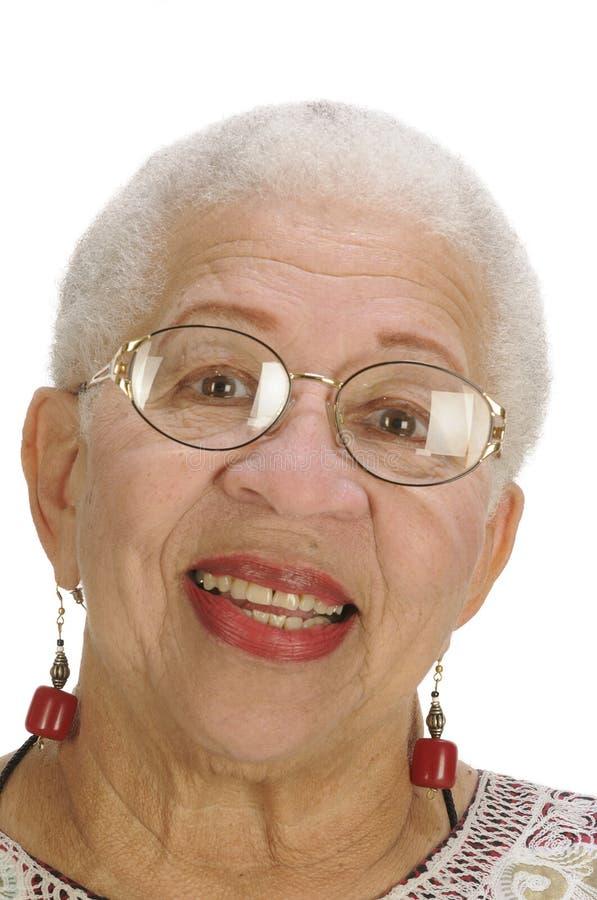 Bejaarde Afrikaanse Amerikaanse Vrouw