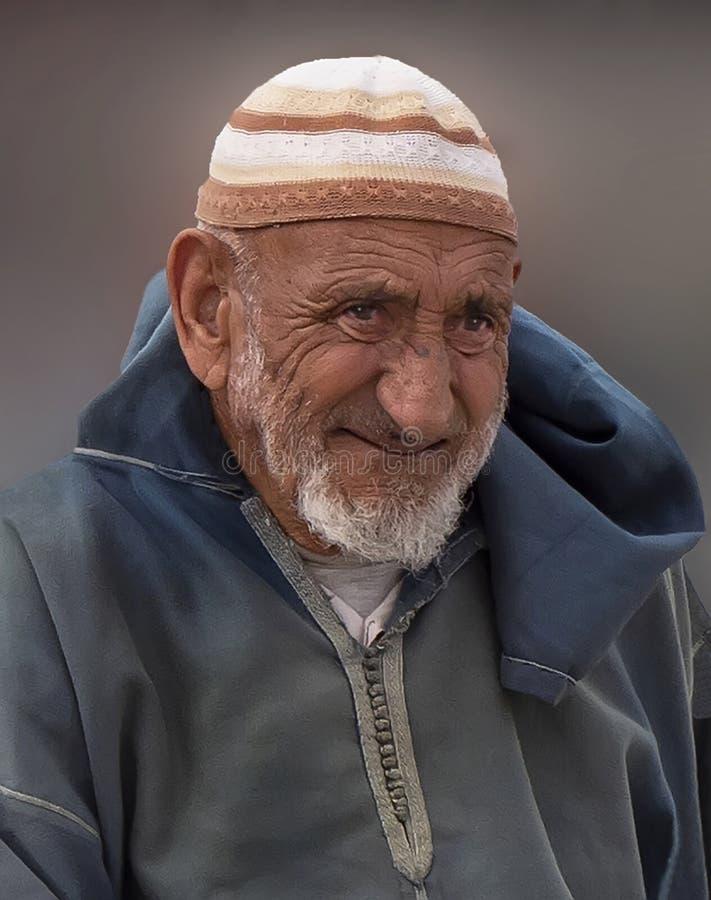 Bejaarde Gevoelvolle Berber-Mens royalty-vrije stock foto's