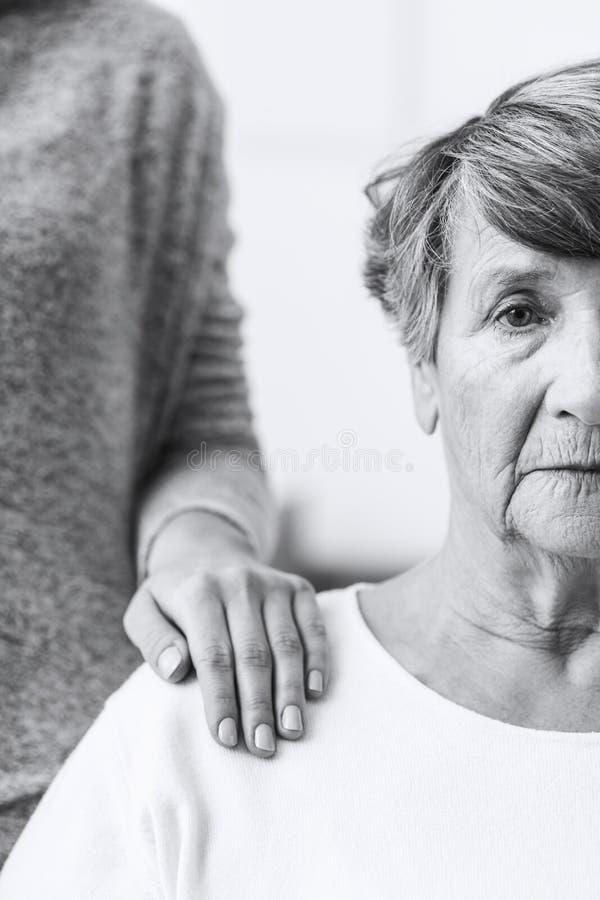 Bejaarde met Alzheimer royalty-vrije stock foto's