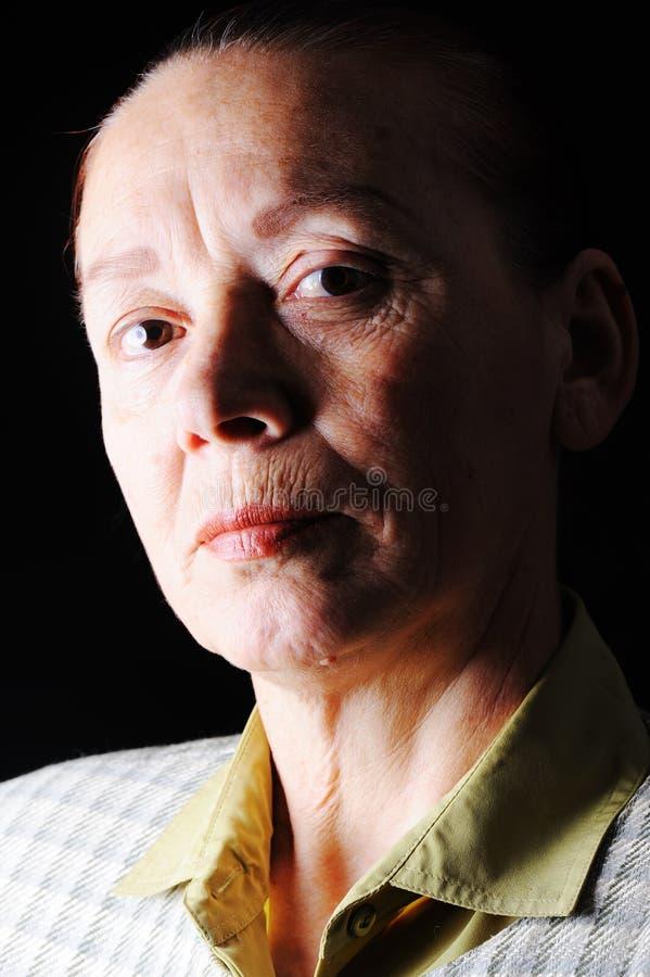 Bejaarde, portret stock afbeelding