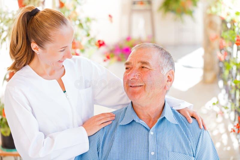 Bejaarde thuiszorg royalty-vrije stock foto's