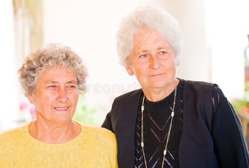 Bejaarden royalty-vrije stock fotografie