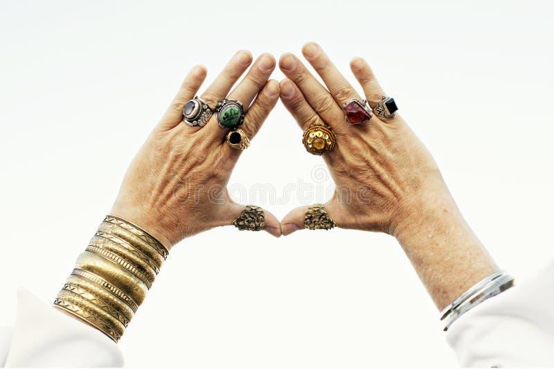 Wizard King Hands stock photos