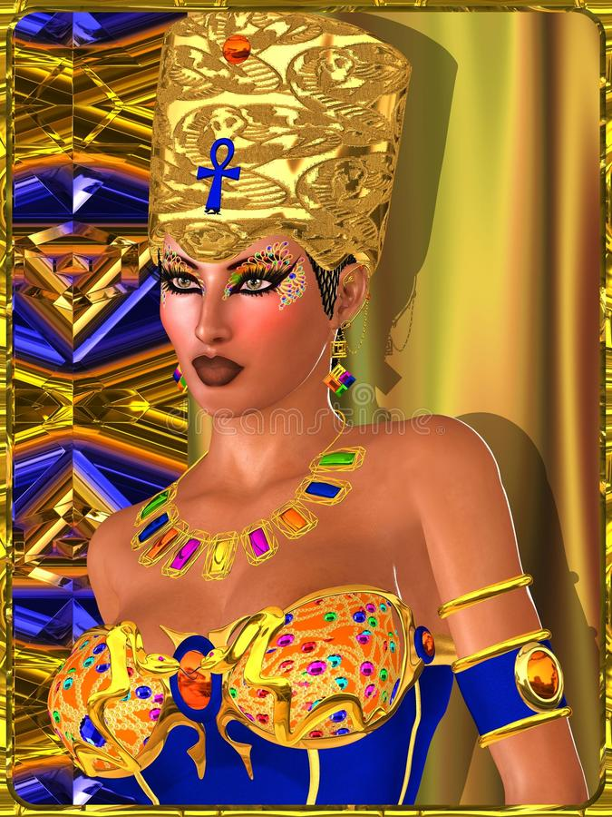 Bejeweled oka Makeup ilustracja wektor