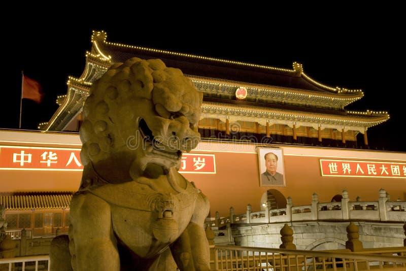 bejing дракон mao квадратный tiananmen фарфора стоковое фото rf