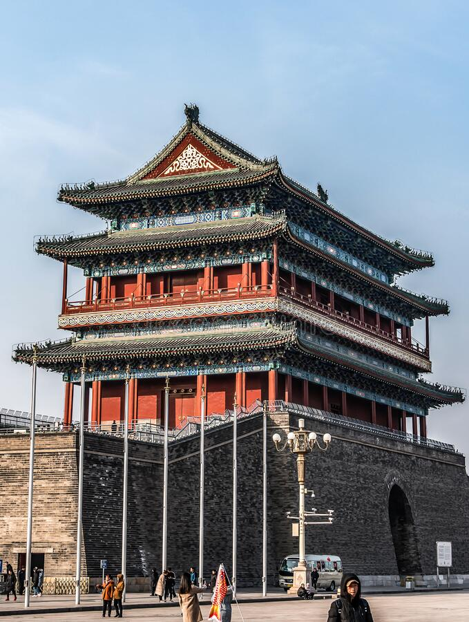 24.02.2019 Bejing China - The Forbidden City is the Chinese imperial palace from the Ming Dynasty. The Forbidden City was the Chinese imperial palace from the royalty free stock image