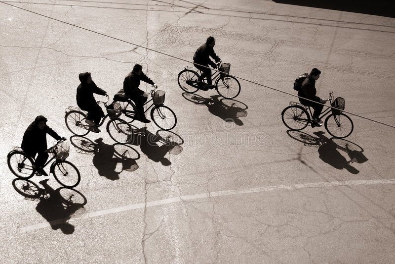 bejing cykla royaltyfri bild