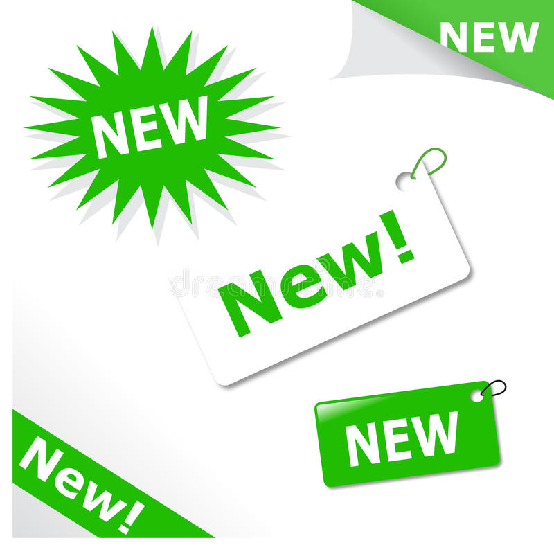 Bekanntmachen der Elemente für neue Produkte vektor abbildung