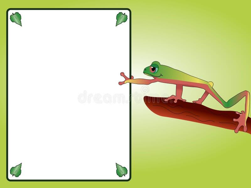 Bekanntmachen des Frosches lizenzfreie abbildung