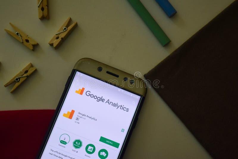 Google Analytics App on Smartphone screen. royalty free stock photo